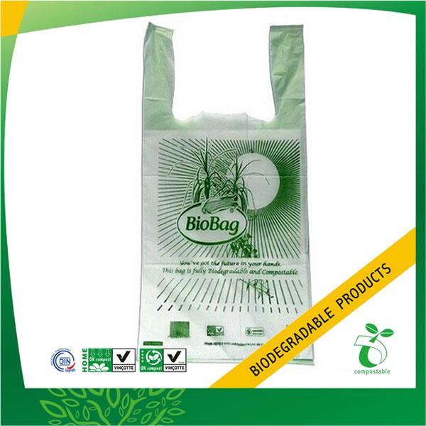 100% Biodegradable Plastic Vest Carrier Bag