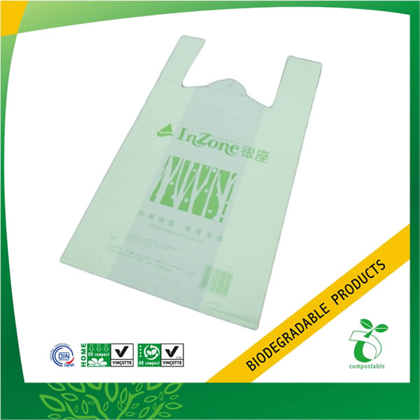 Compostable and Biodegradable Vest Plastic Handle Bag
