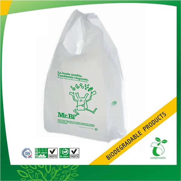 100% Biodegradable Plastic Shopping Bag